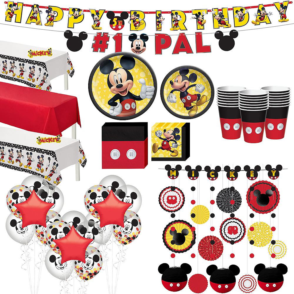 Mickey Mouse Forever Ultimate Tableware Kit for 24 Guests Image #1