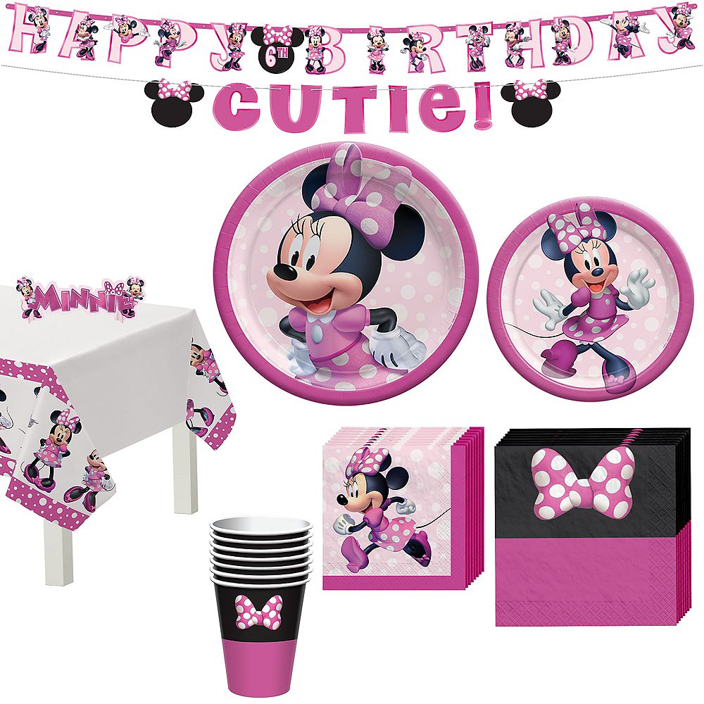 Nav Item for Minnie Mouse Forever Tableware Kit for 8 Guests Image #1