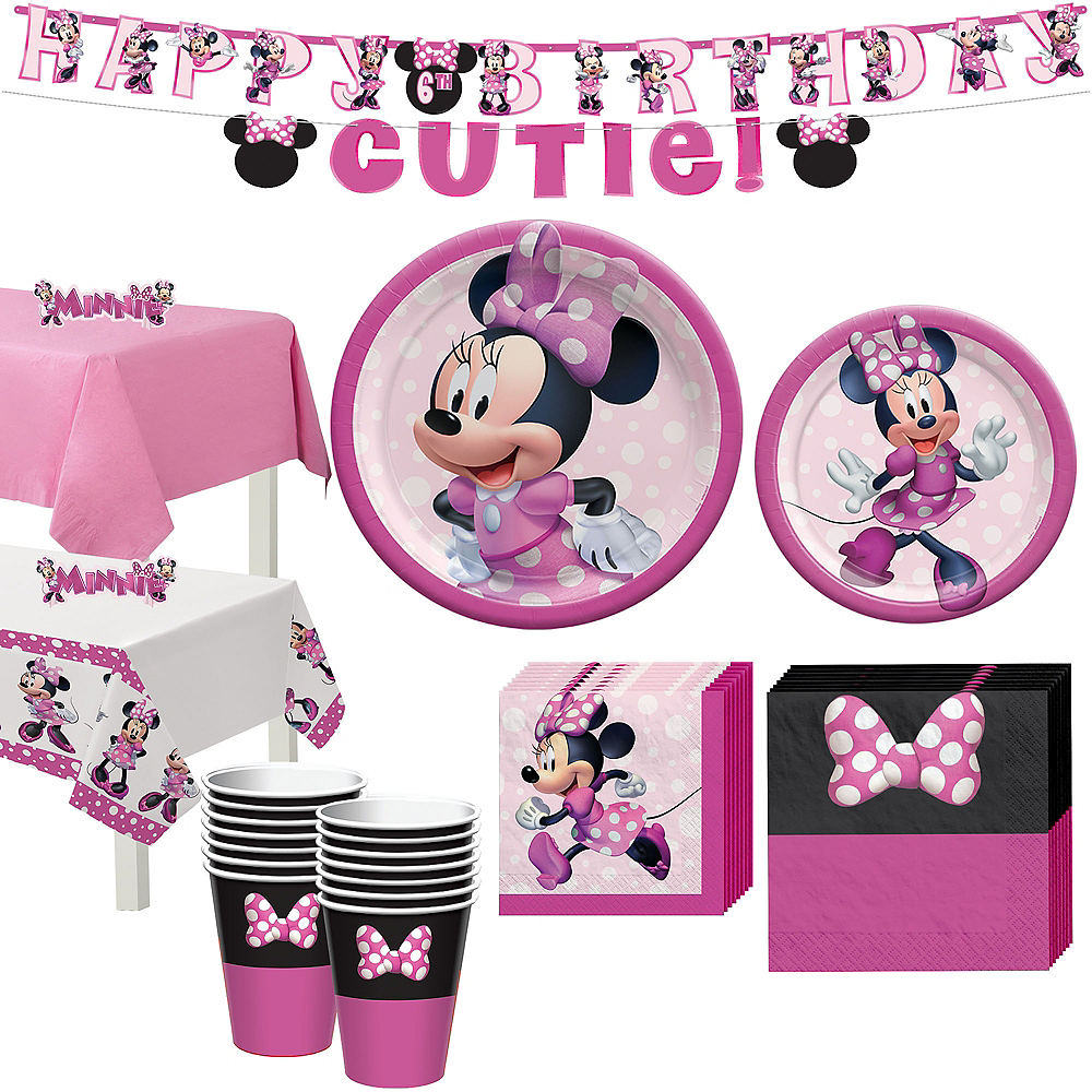 Minnie Mouse Forever Tableware Kit for 16 Guests Image #1