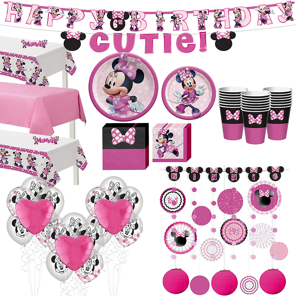 Minnie Mouse Forever Ultimate Tableware Kit for 24 Guests Image #1