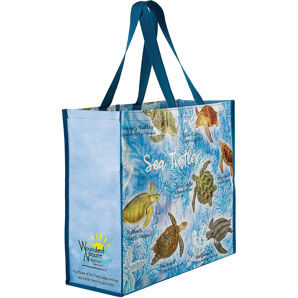 Wounded Nature Sea Turtle Tote Bag Image #1
