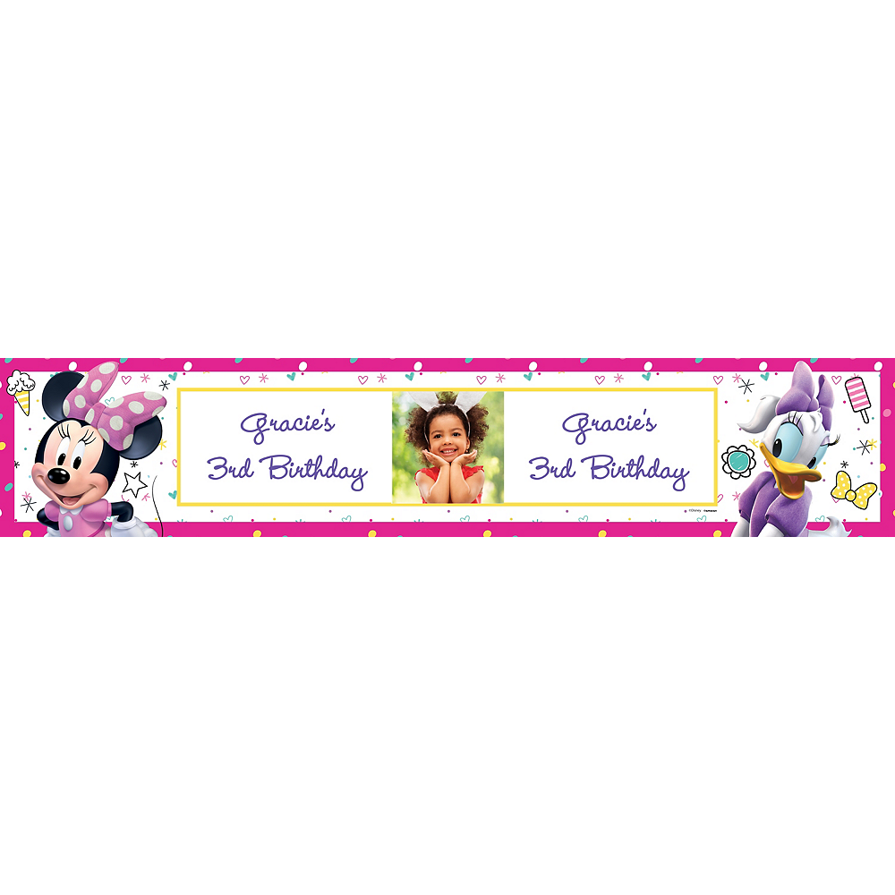 Minnie's Happy Helpers Photo Table Runner Image #1