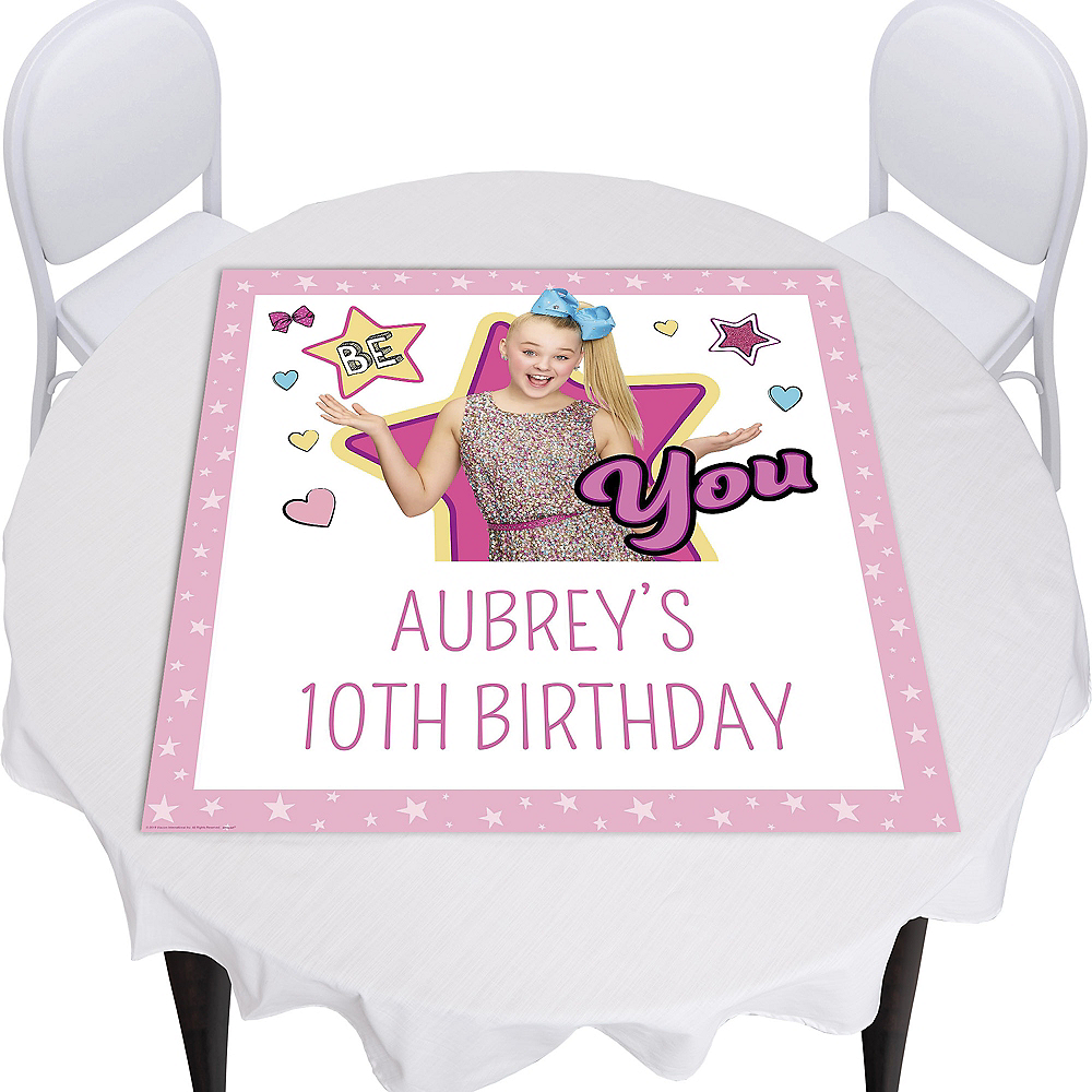 Custom JoJo Siwa Square Table Topper Image #1