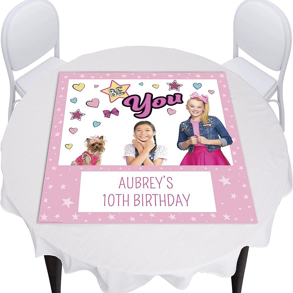 Custom JoJo Siwa Photo Square Table Topper Image #1