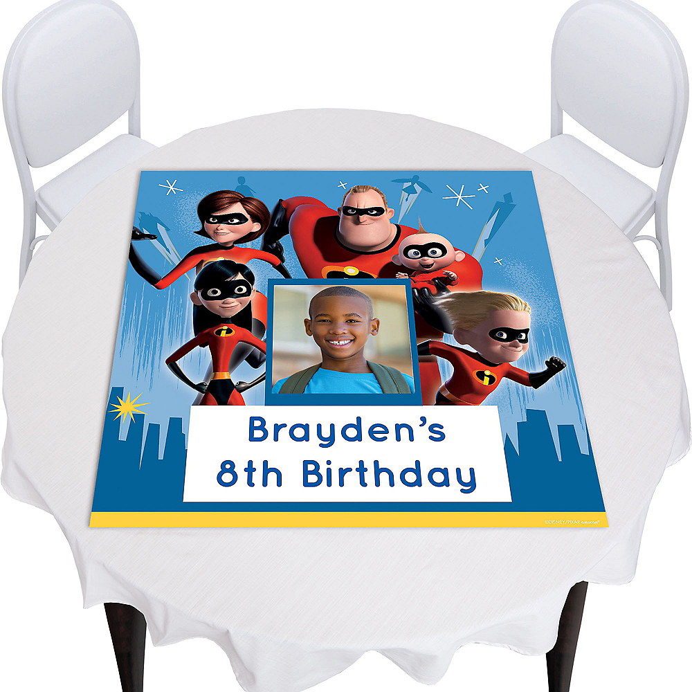 Custom Incredibles 2 Photo Square Table Topper Image #1