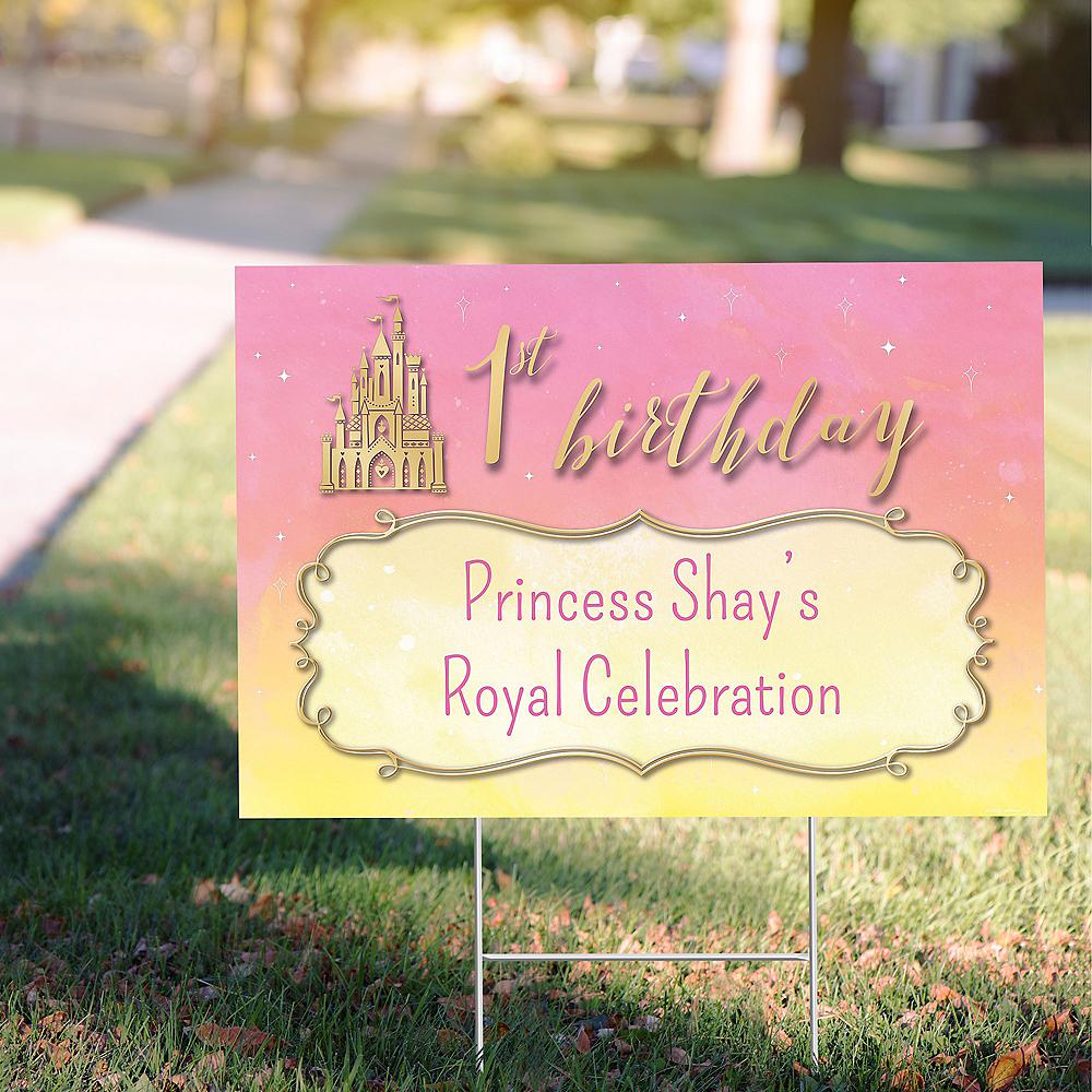 Custom Once Upon a Time Disney Princess 1st Birthday Yard Sign Image #1