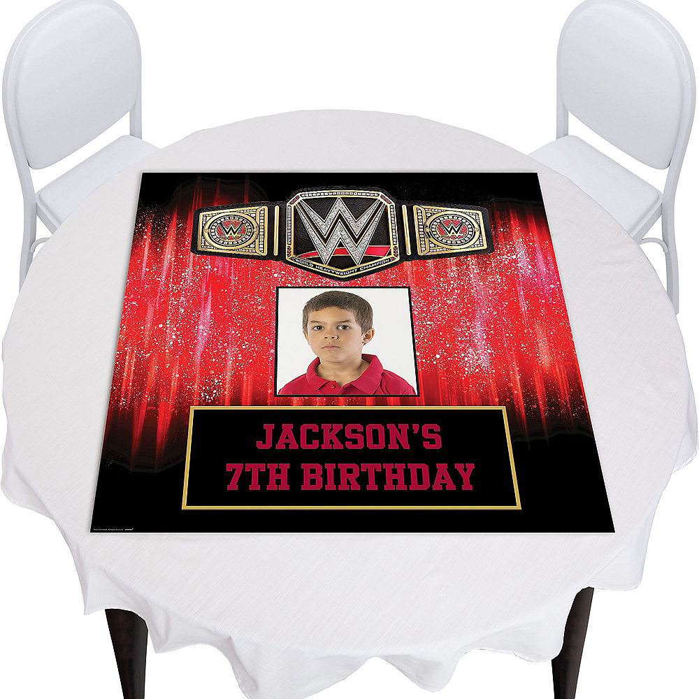 Custom WWE Photo Square Table Topper Image #1