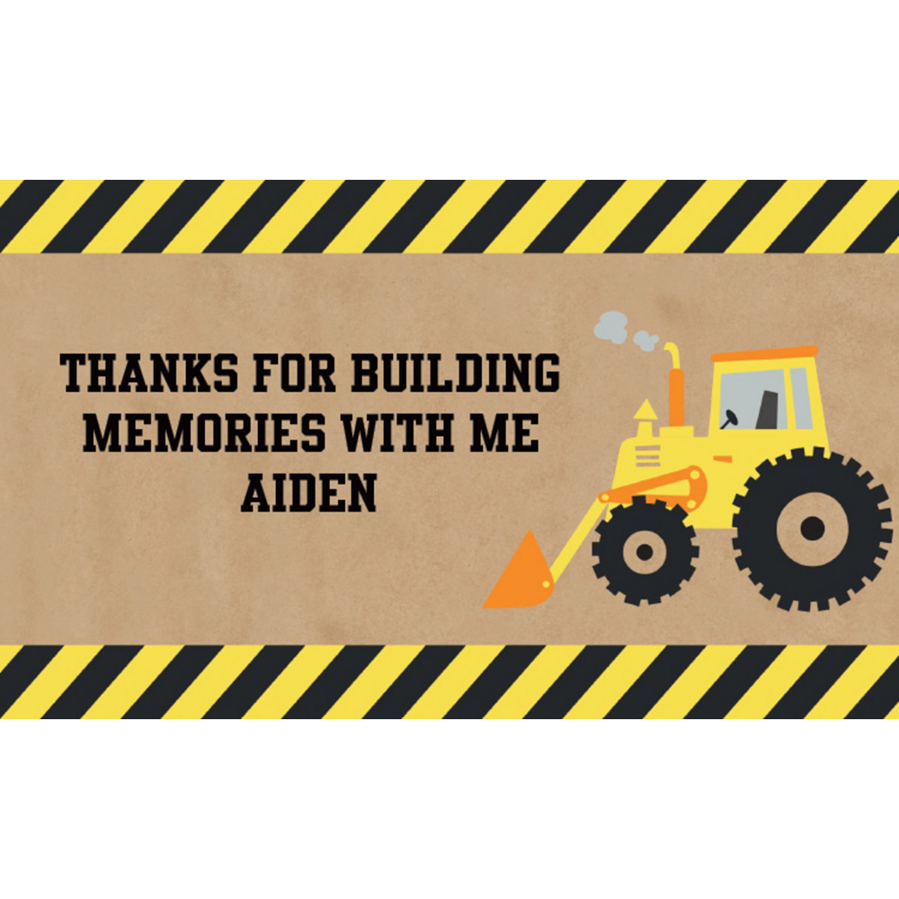 Custom Under Construction Thank You Notes Image #1