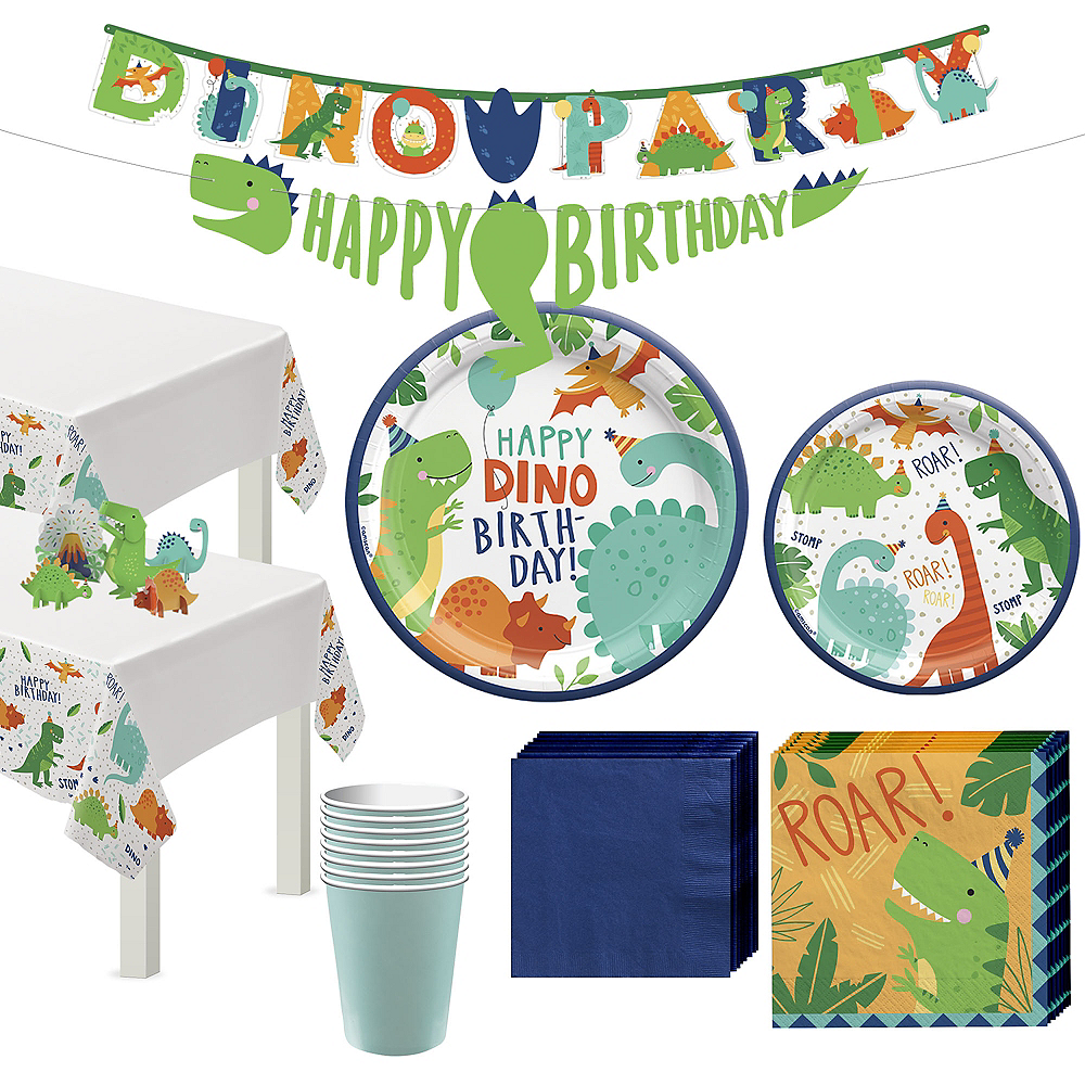 Dino-Mite Birthday Tableware Kit for 16 Guests Image #1