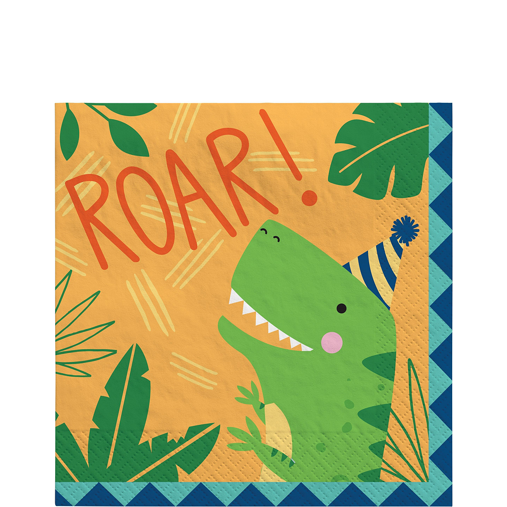 Dino-Mite Birthday Tableware Kit for 16 Guests Image #5