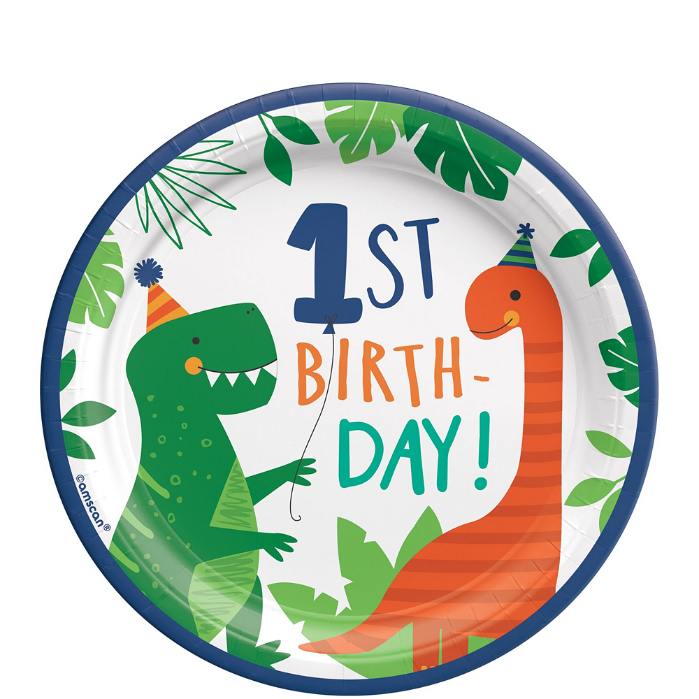 Dino-Mite 1st Birthday Tableware Kit for 16 Guests Image #2