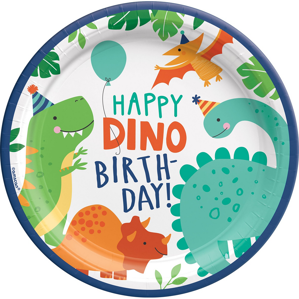 Dino-Mite 1st Birthday Tableware Kit for 16 Guests Image #3