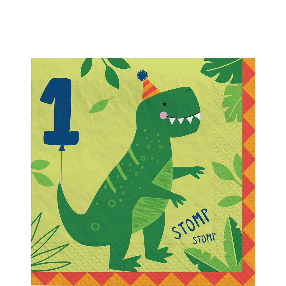 Dino-Mite 1st Birthday Tableware Kit for 32 Guests Image #5