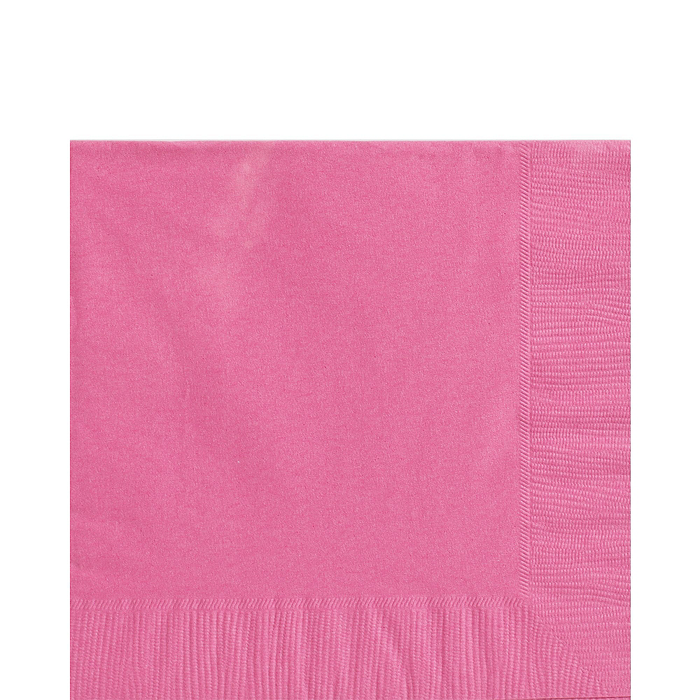 Bright Pink Paper Tableware Kit for 50 Guests Image #5