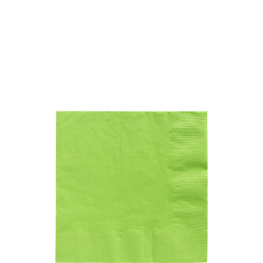Kiwi Green Paper Tableware Kit for 50 Guests Image #4