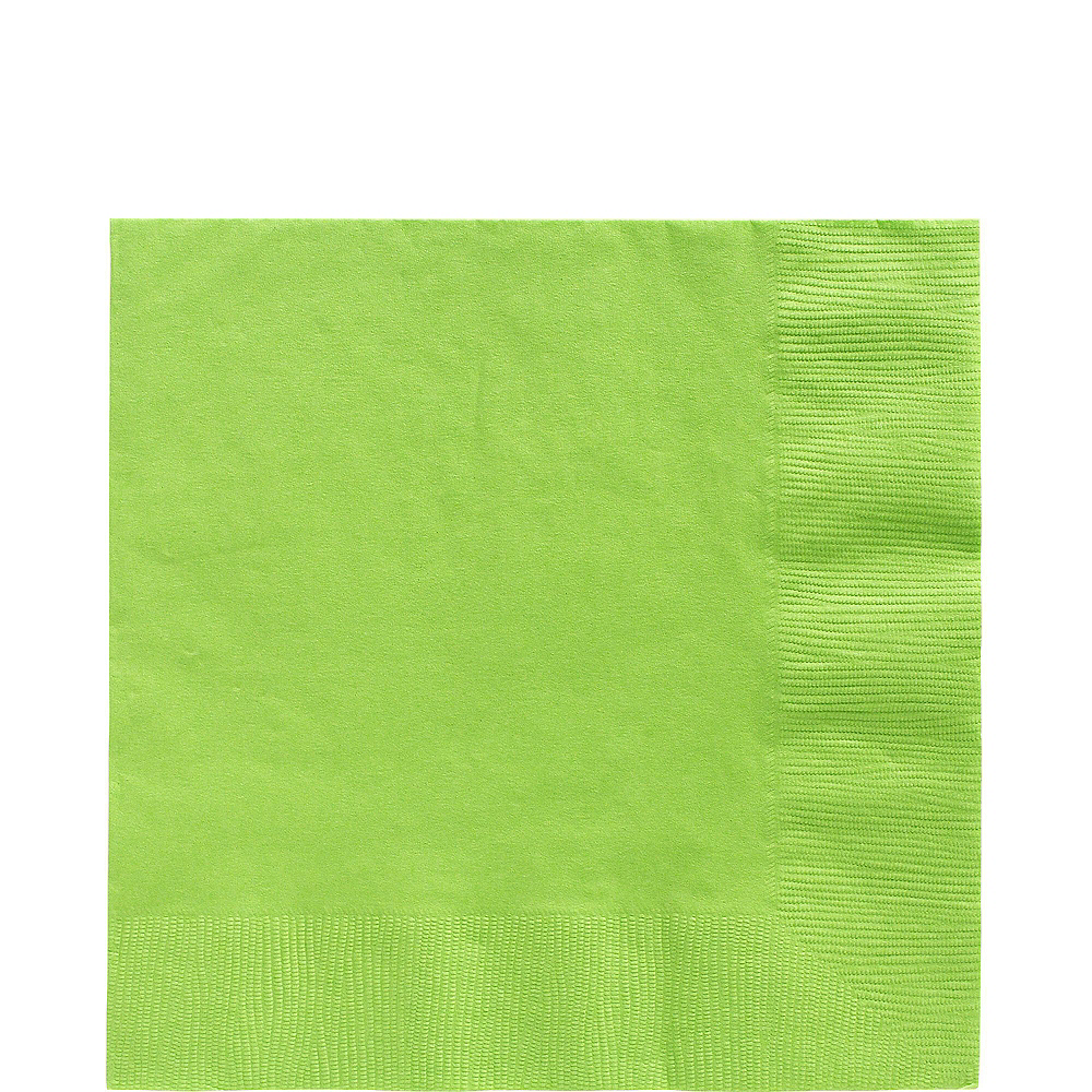 Kiwi Green Paper Tableware Kit for 50 Guests Image #5