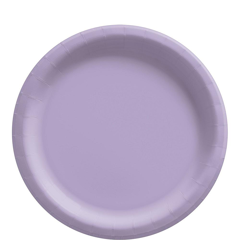 Lavender Paper Tableware Kit for 50 Guests Image #3