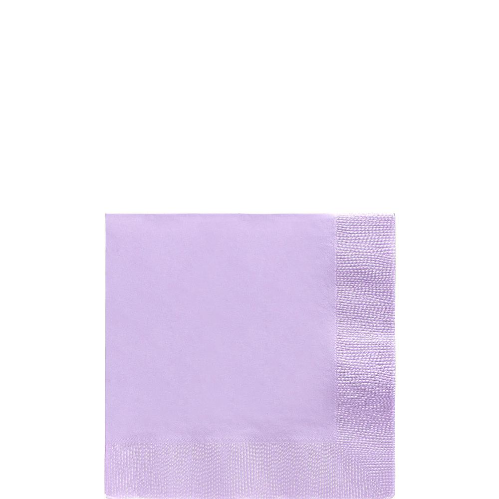 Lavender Paper Tableware Kit for 50 Guests Image #4