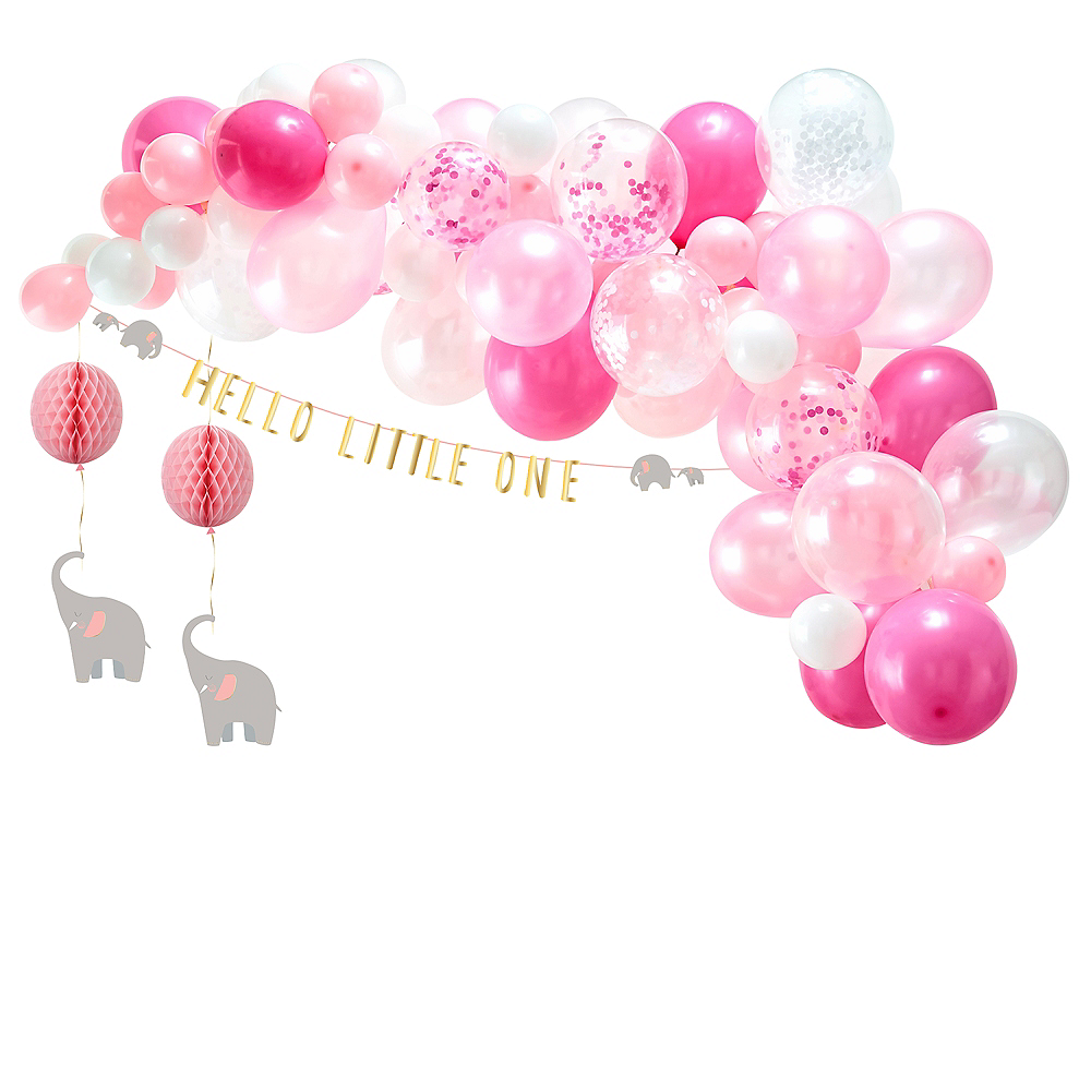 Pink Hello Little One Baby Shower Decorating Kit Image #1