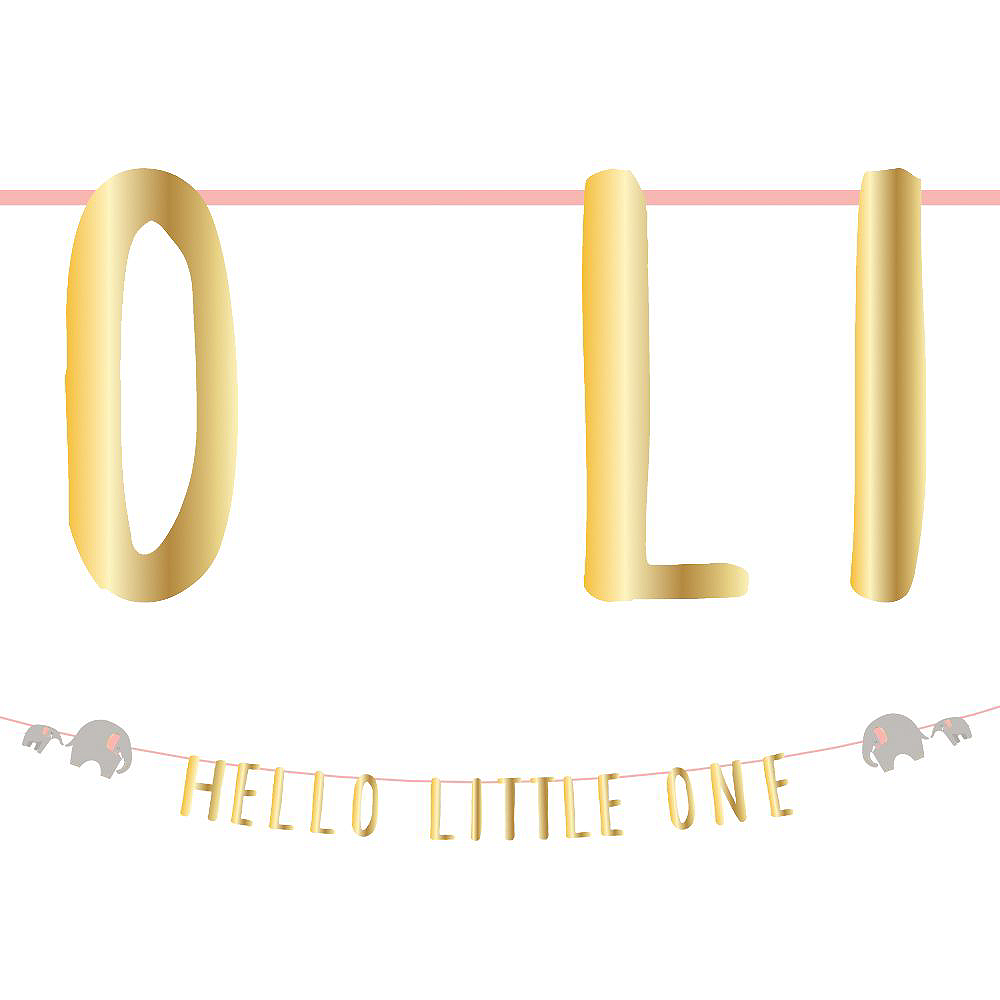 Pink Hello Little One Baby Shower Decorating Kit Image #3