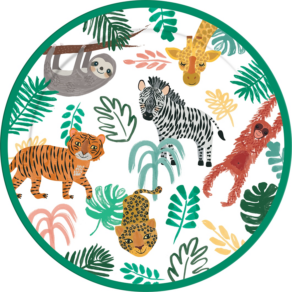 Jungle Fun Paper Plates, 9in, 8ct Image #1