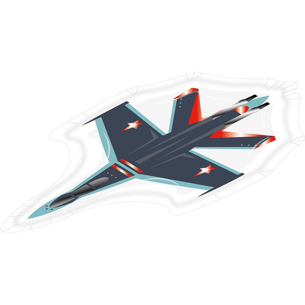 Shaped Fighter Jet Dessert Plates, 8ct Image #2