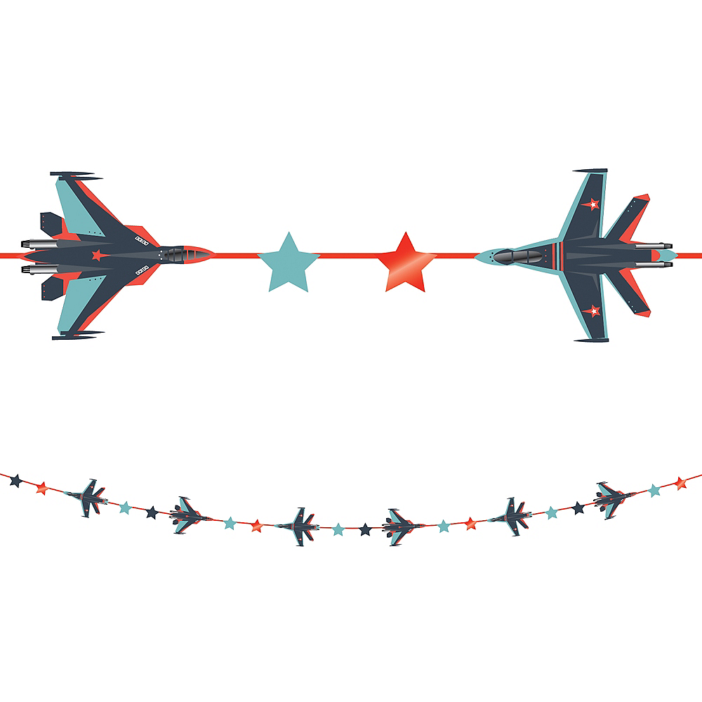 Fighter Jet Garland, 10ft Image #1
