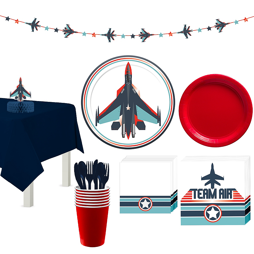 Fighter Jet Tableware Kit for 8 Guests Image #1