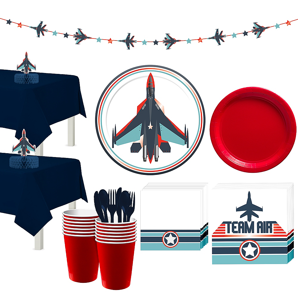 Fighter Jet Tableware for 16 Guests Image #1