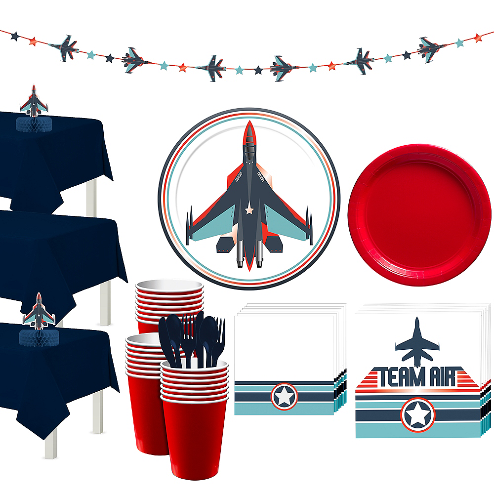 Fighter Jet Tableware for 24 Guests Image #1