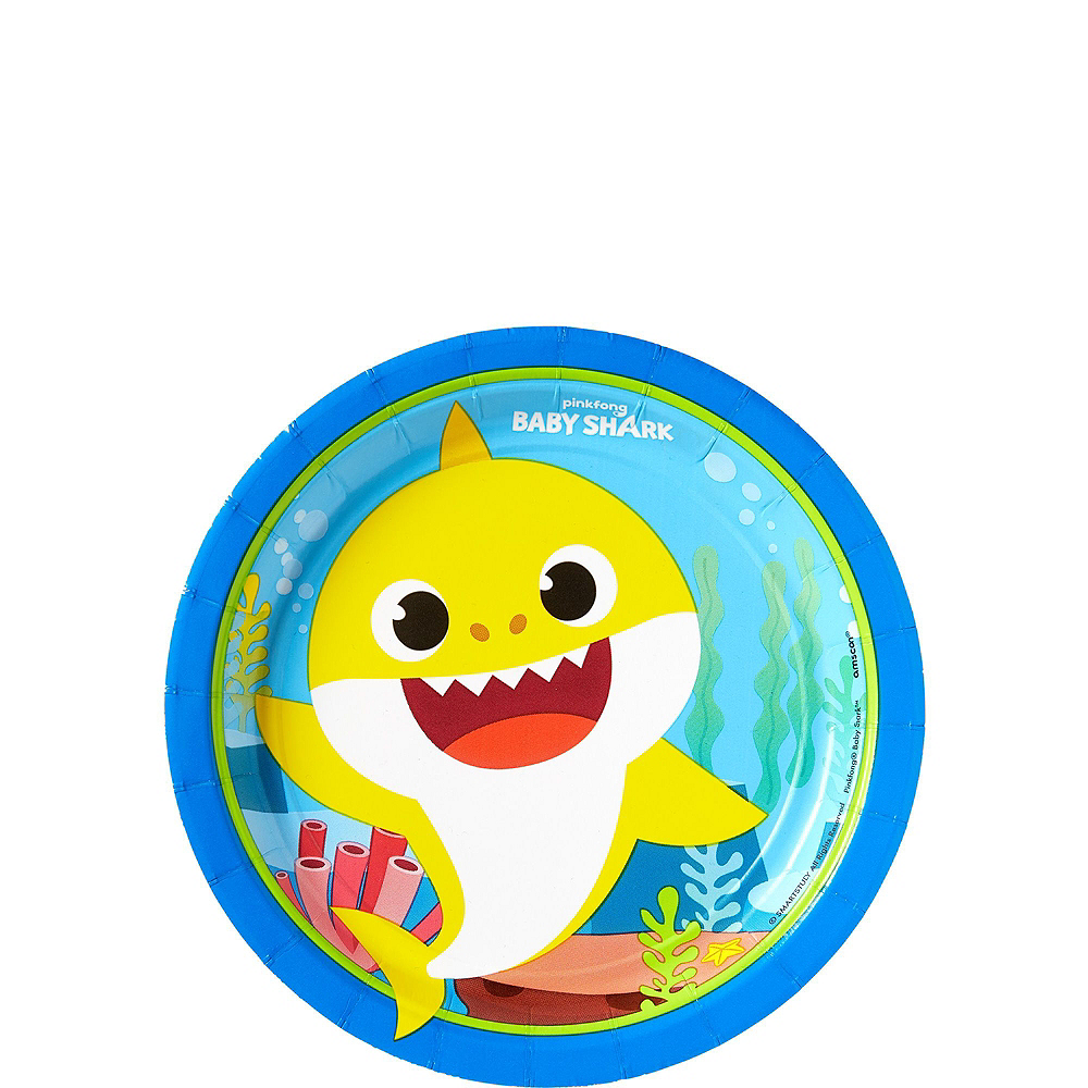 Baby Shark 1st Birthday Party Tableware Kit for 32 Guests Image #2