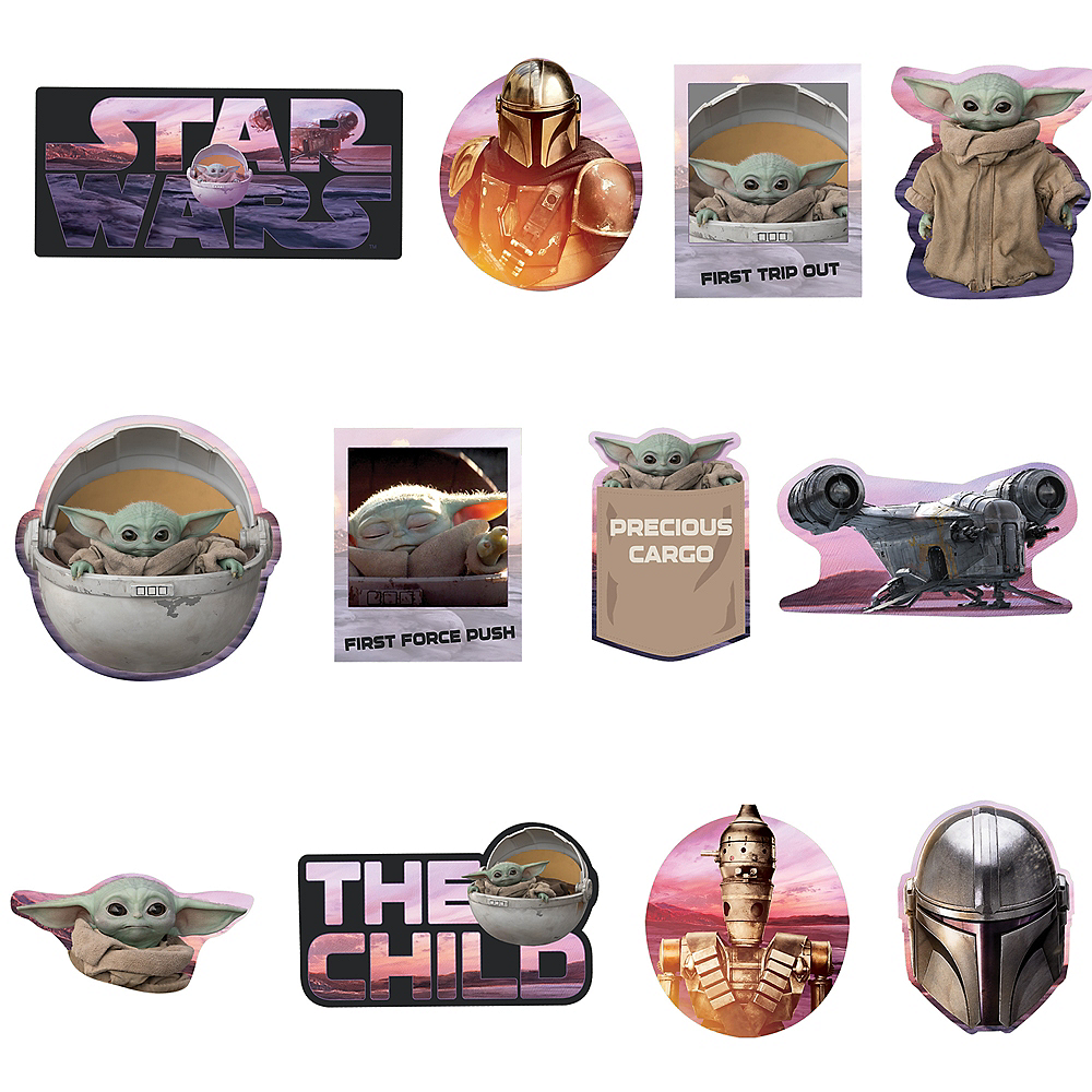 The Child Cutouts 12ct - The Mandalorian Image #1