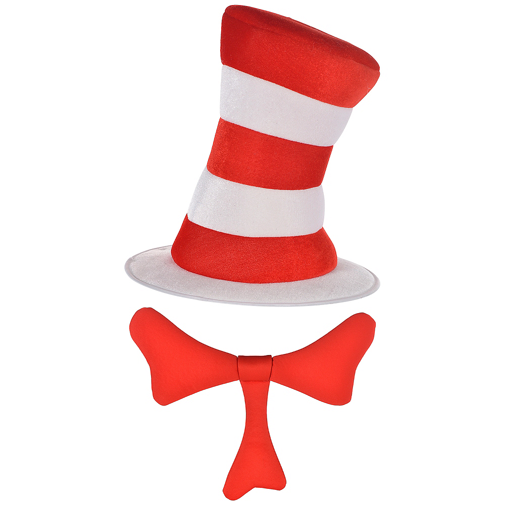 Dr. Seuss Cat In The Hat Bow & Hat Costume Accessory Kit Image #1