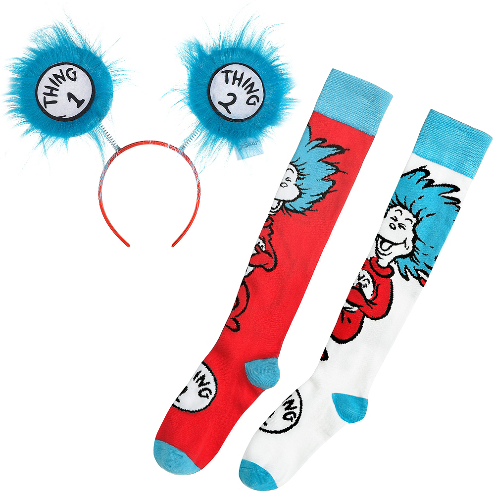 Dr. Seuss Thing 1 & 2 Headband and Socks Set Image #1