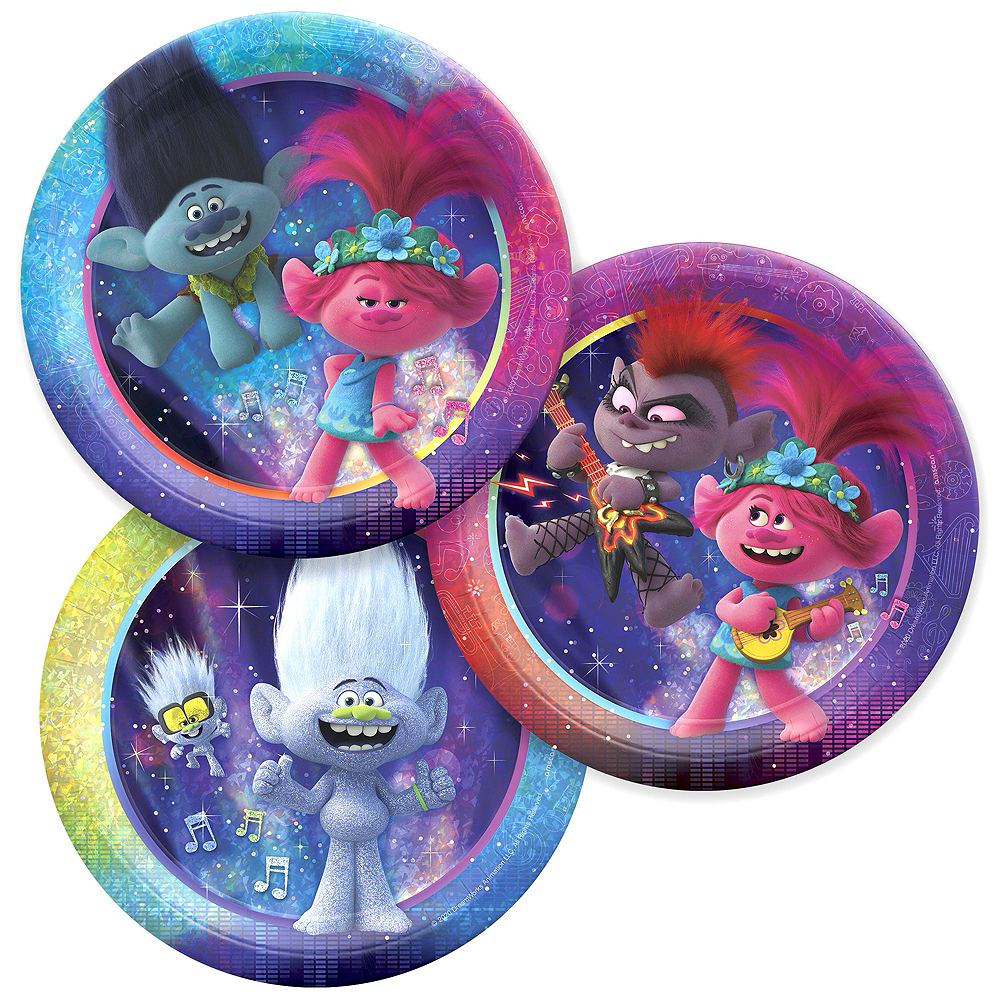 Trolls World Tour Tableware Kit for 8 Guests Image #2