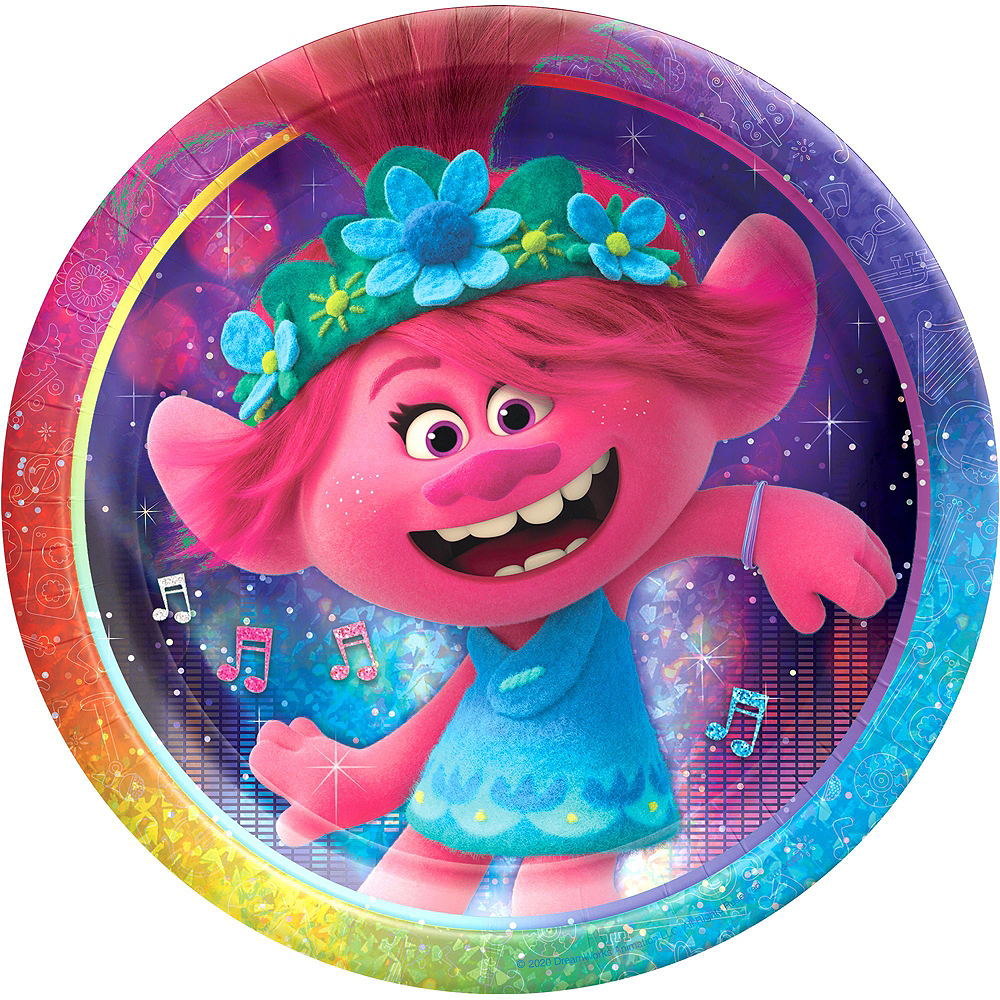 Trolls World Tour Tableware Kit for 8 Guests Image #3
