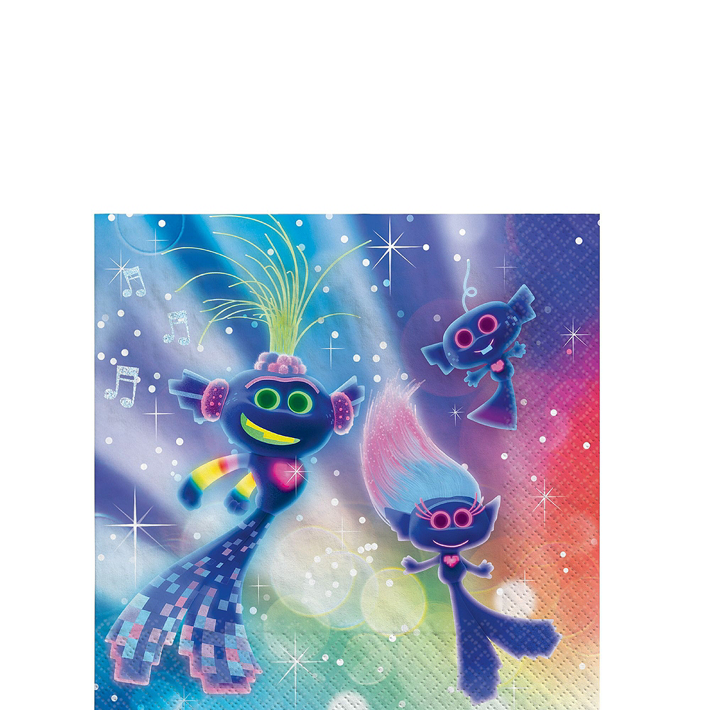 Trolls World Tour Tableware Kit for 8 Guests Image #4