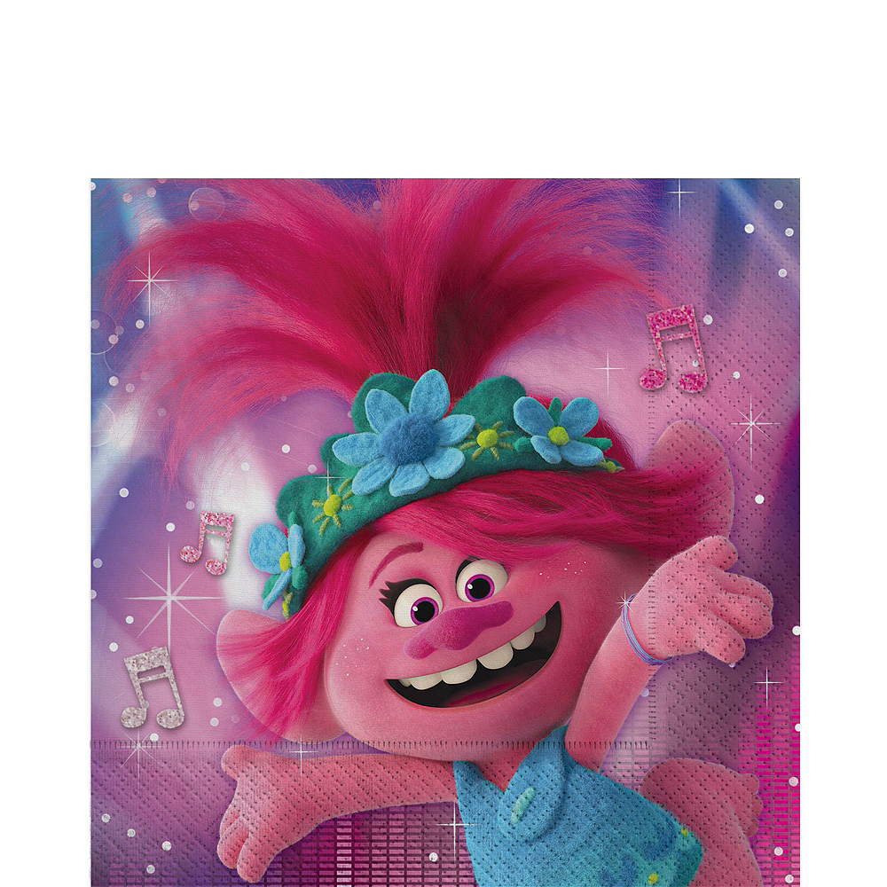 Trolls World Tour Tableware Kit for 8 Guests Image #5