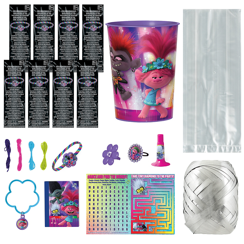 Trolls World Tour Super Party Favor Kit for 8 Guests Image #1