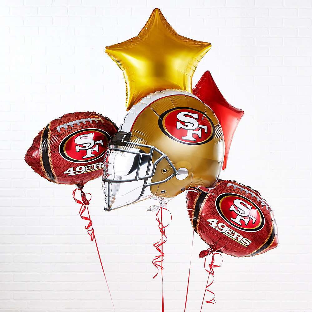 San Francisco 49ers Helmet & Stars Balloon Kit Image #1