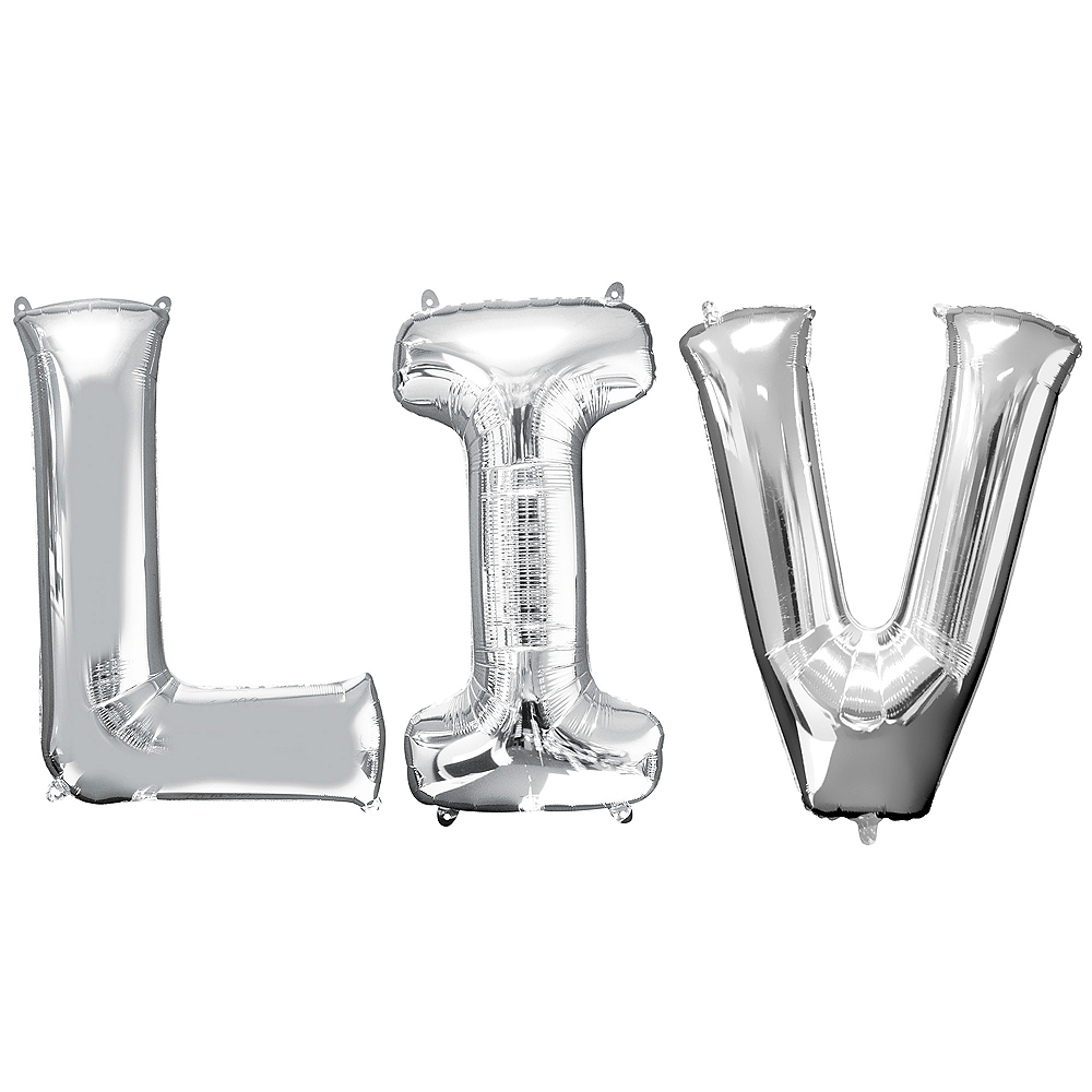 Silver Super Bowl LIV Balloon Kit Image #1