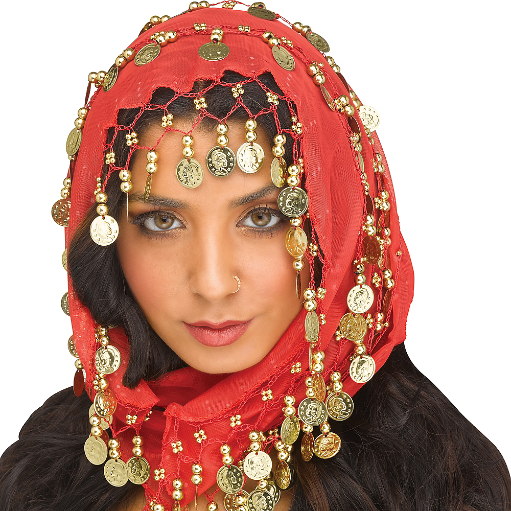 Bohemian Head Scarf with Coins Image #1