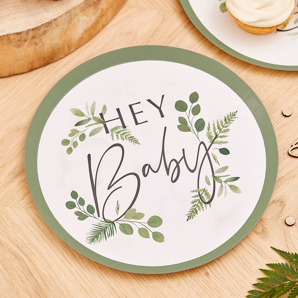 Super Ginger Ray Hey Baby Botanical Tableware Kit for 32 Guests Image #2