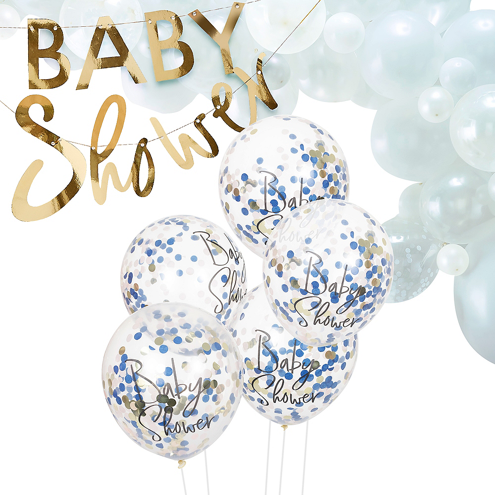 Ginger Ray Blue & Pink Baby Shower Balloon Kit Image #1