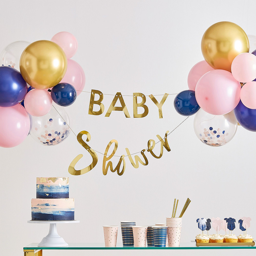 Ginger Ray Blue & Pink Baby Shower Balloon Kit Image #2