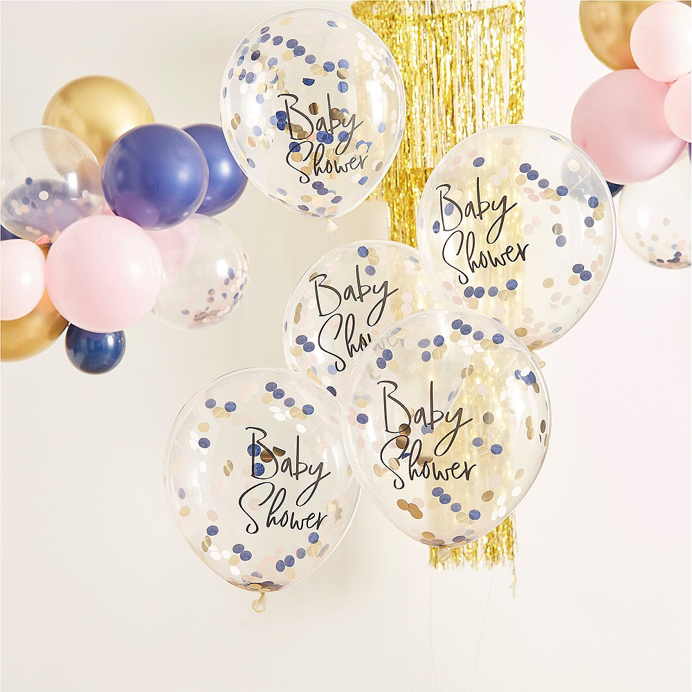 Ginger Ray Blue & Pink Baby Shower Balloon Kit Image #3
