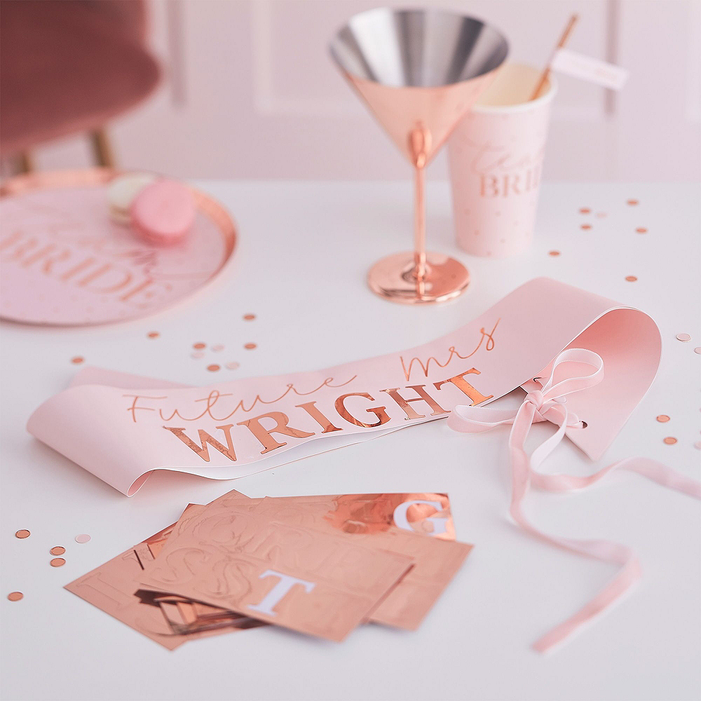 Ginger Ray Metallic Rose Gold Bachelorette Party Photo Booth Kit Image #4