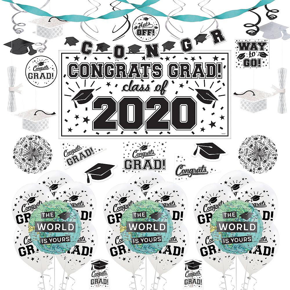The World Awaits Graduation Party Super Decorating Kit Image #1