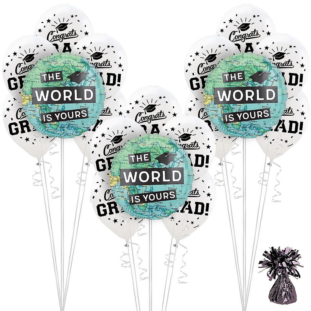 The World Awaits Graduation Party Balloon Decorating Kit Image #1