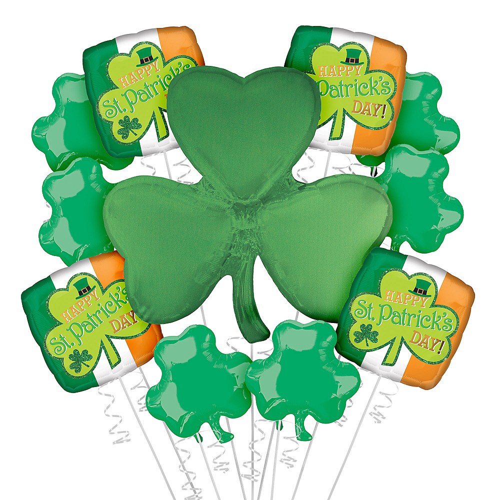 Happy St. Patrick's Day Balloon Kit 11pc Image #1